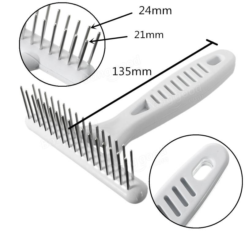 Pet Dog Hair Comg Grooming Cat Anti-static Hairbrush Massage Hair Removal Comb