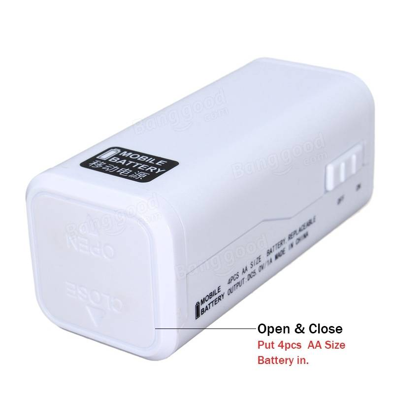 Aa 5 Battery Emergency Power Supply With Led Light Single