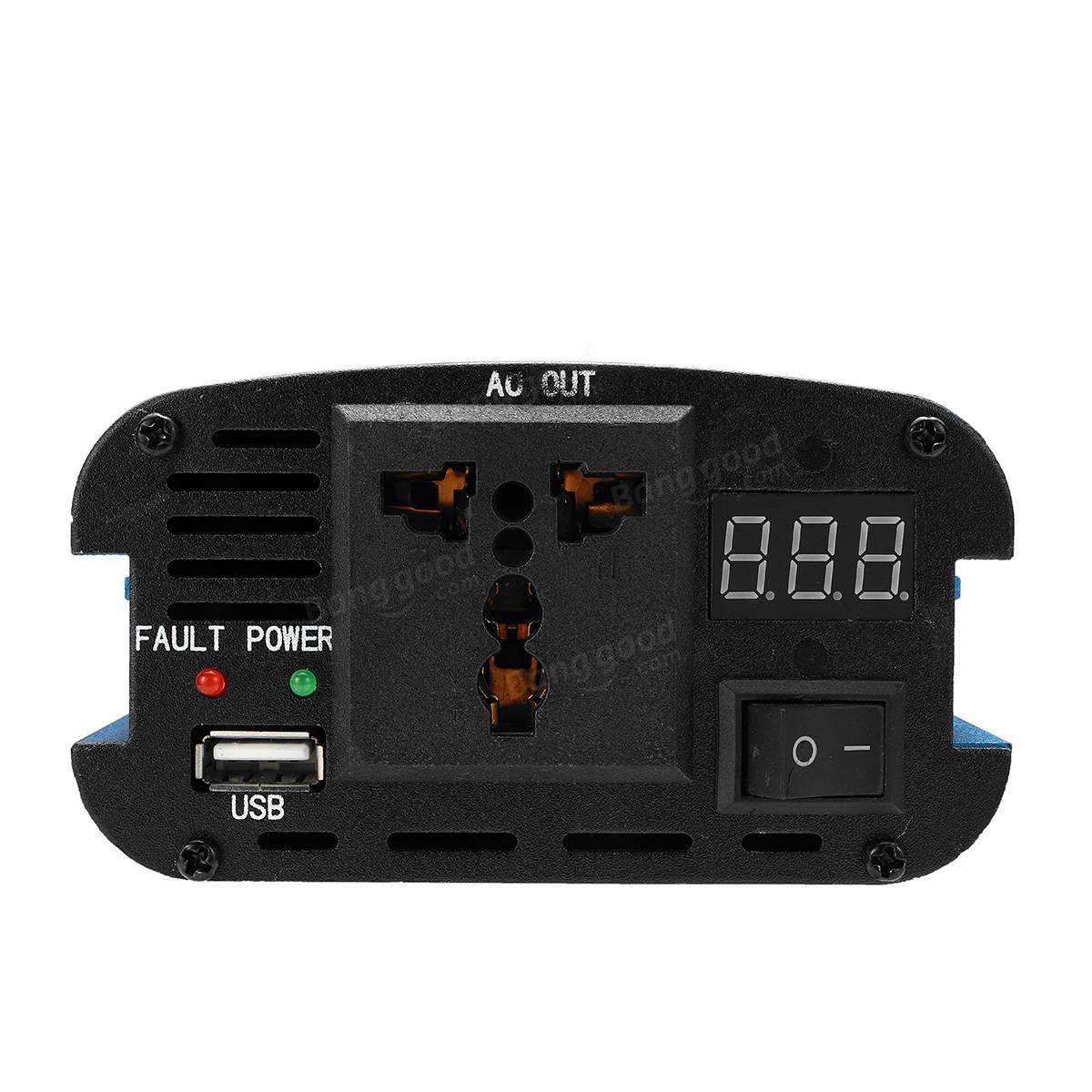 5000W DC 12/24V to AC 220V Solar Power Inverter LED Display Sine Wave USB Converter
