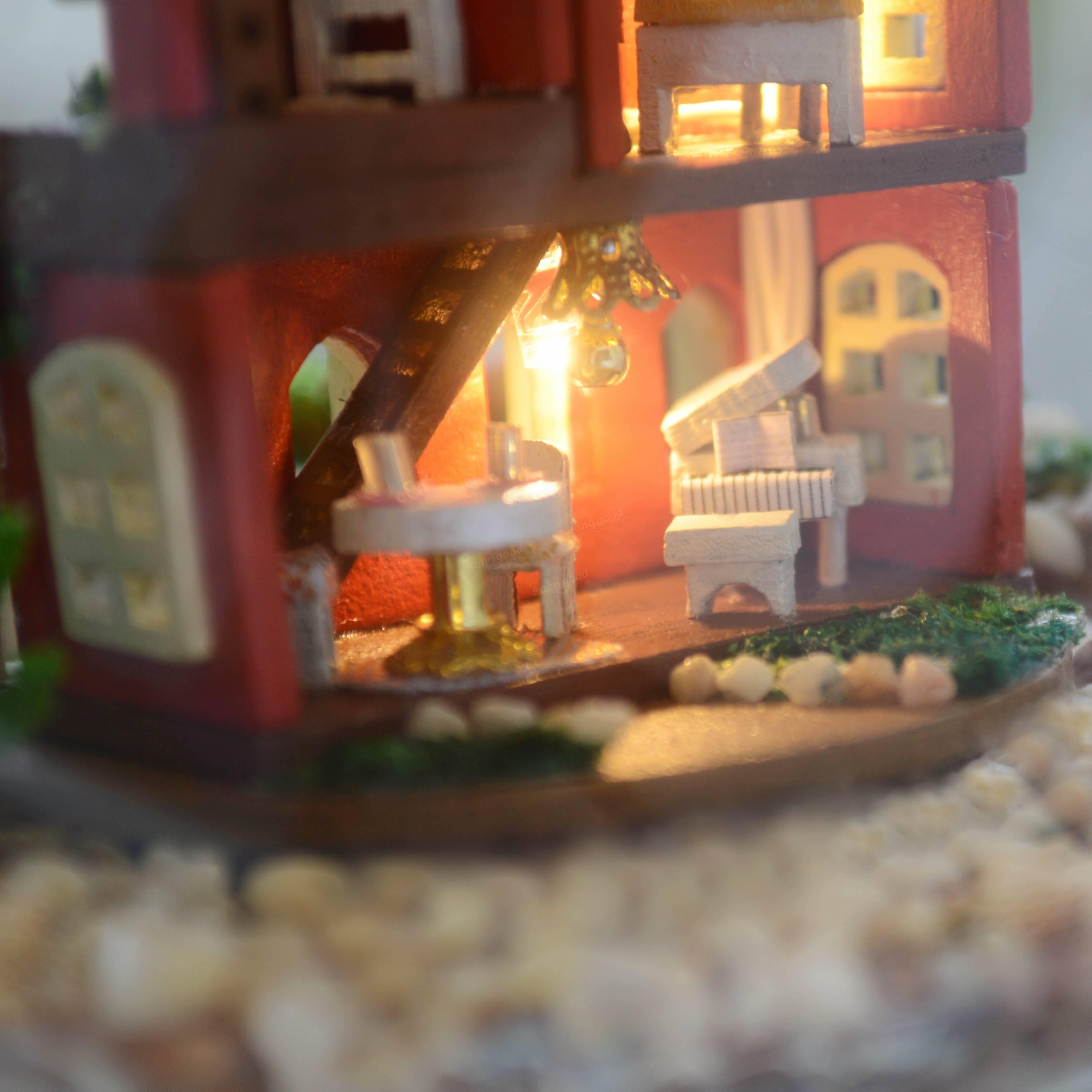 Cuteroom DIY Glass Ball Dollhouse Handmade Miniature Toys Birthday ...