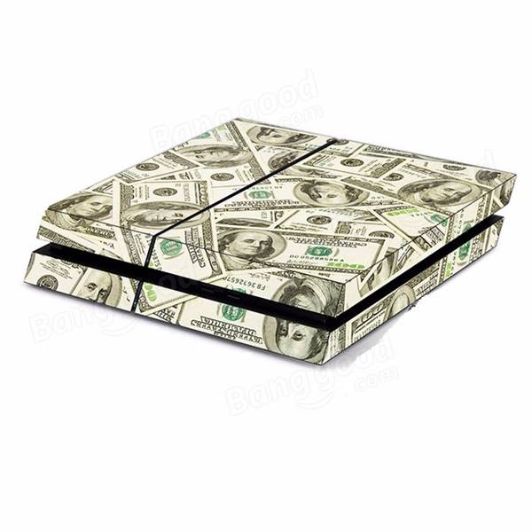 Dollar Pattern Skin Sticker for PS4 Play Station 4 Console 2 Controller Protector Skin