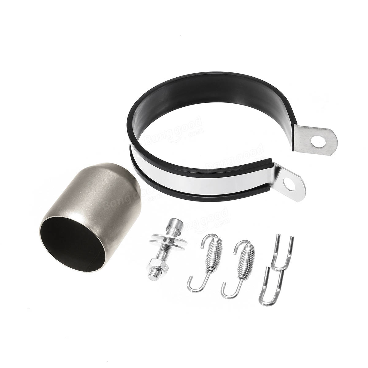 38-51mm Exhaust Muffler Pipe with Silencer Universal Motorcycle Stainless Steel