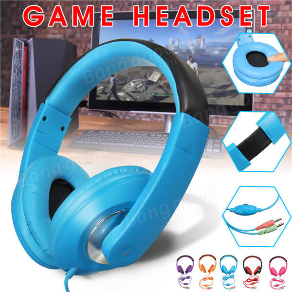 Universal 3.5mm Stereo Game Headset Headphone Earphone For Tablet Computer Phone