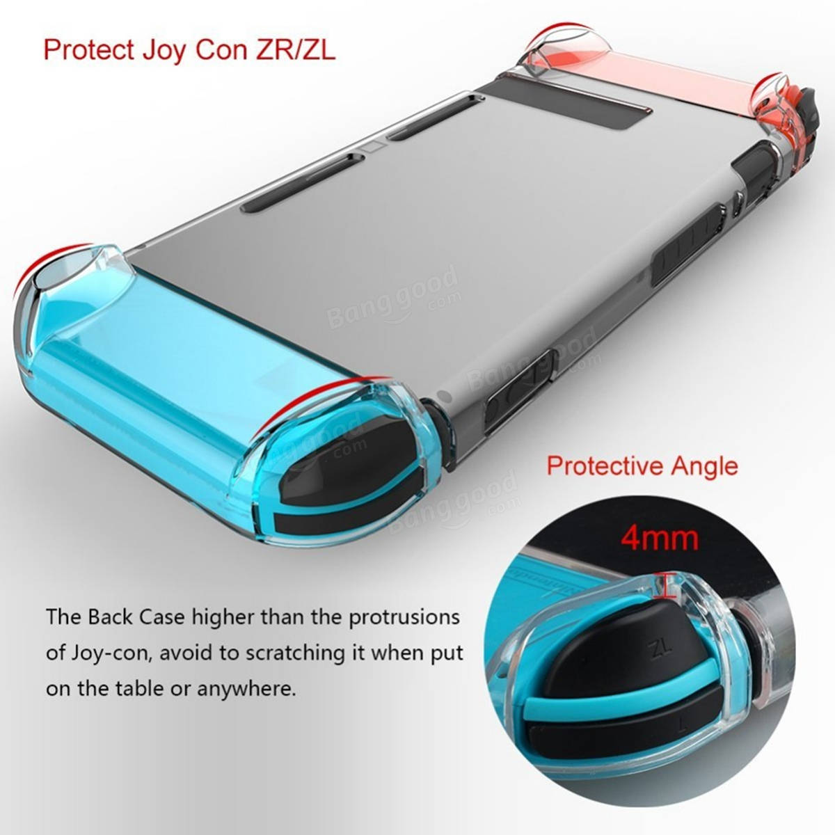 Transparent Protective Hard Case Back Cover Skin Shell For Nintendo Switch New