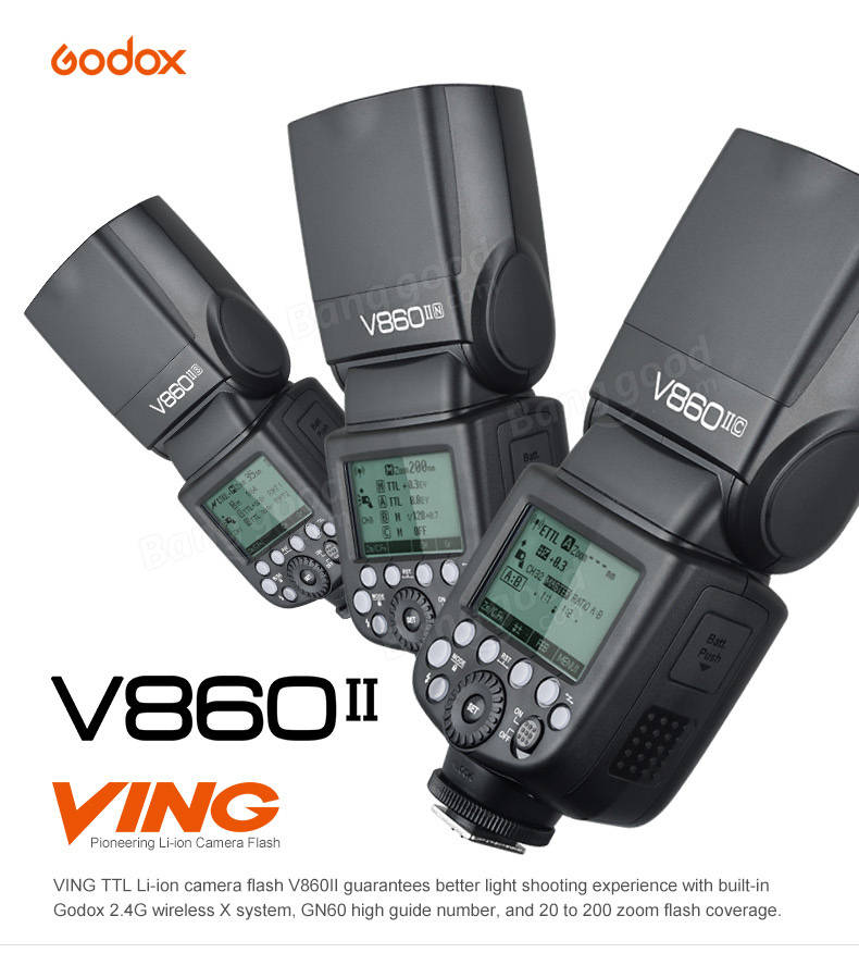 Godox V860II-C E-TTL HSS 1/8000 Speedlite Flash for Canon DSLR Camera