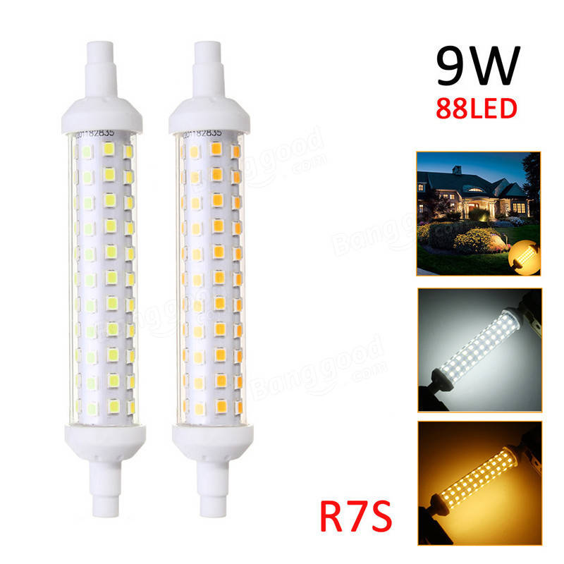 R7S 9W 2835 SMD Non-dimmable LED Flood Replaces Halogen Lamp Light Bulb AC220-265V