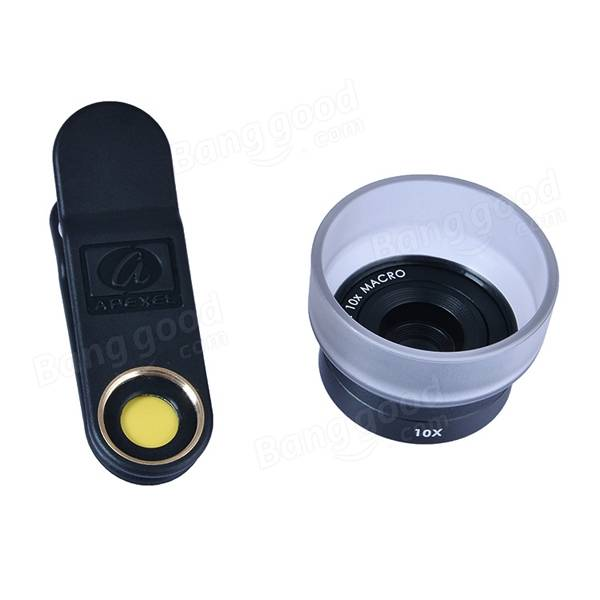 APEXEL HD 25mm 10x Super Macro Lens Universal Detachable Photography Lens for IPhone Samsung Xiaomi IOS Android