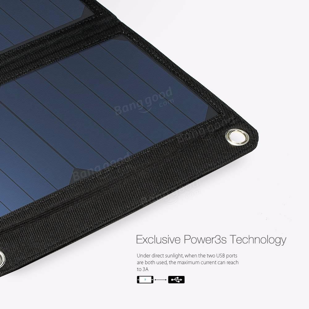 BlitzWolf® 20W 3A BW-L1 Foldable Portable Sun Power Solar ...