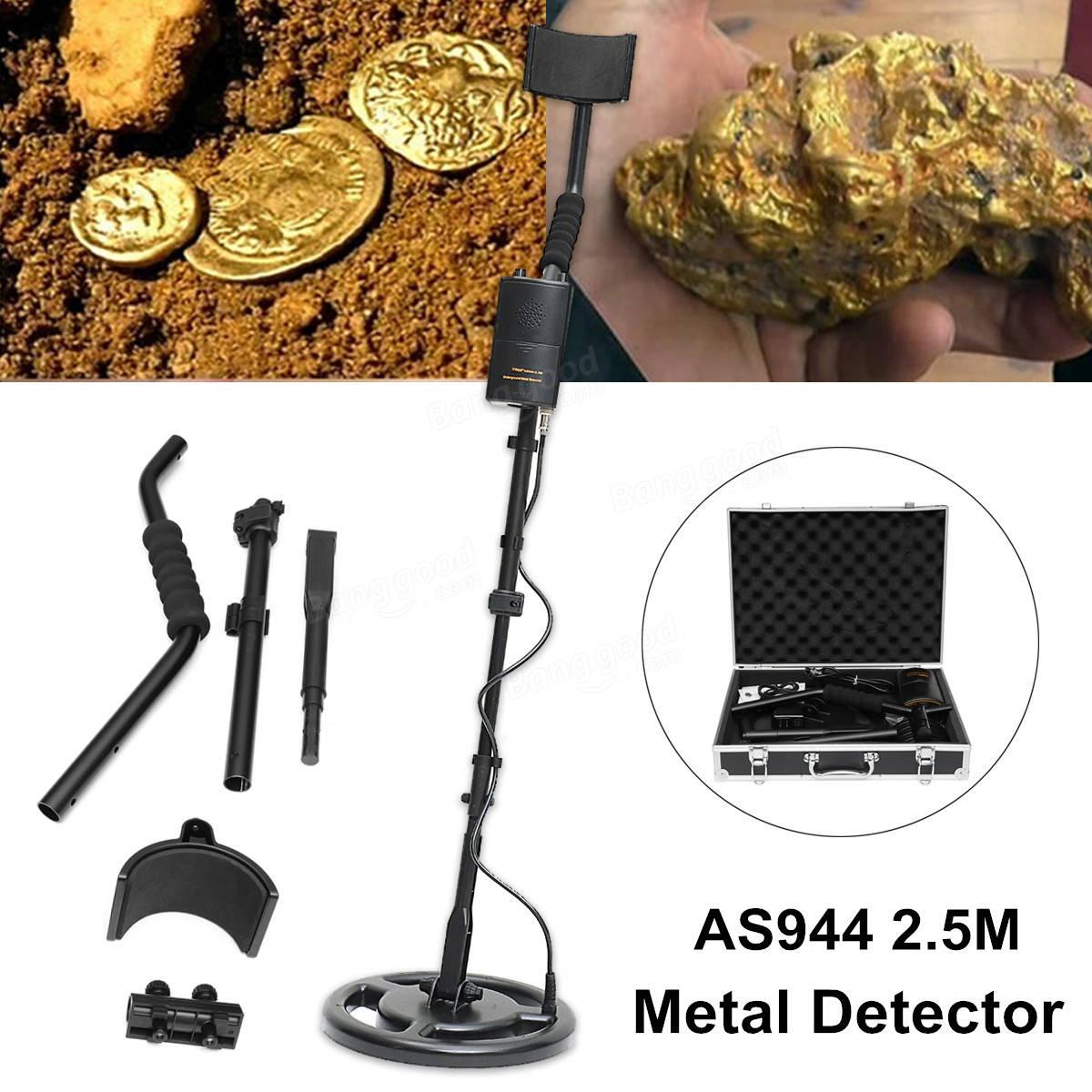 AS944 2.5M Silver Metal Detector Underground Gold Digger Treasure ...