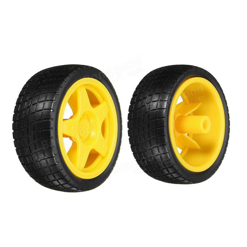 2 Pcs Smart Robot Car Tyres Wheels For Arduino TT Gear Motor Chassis