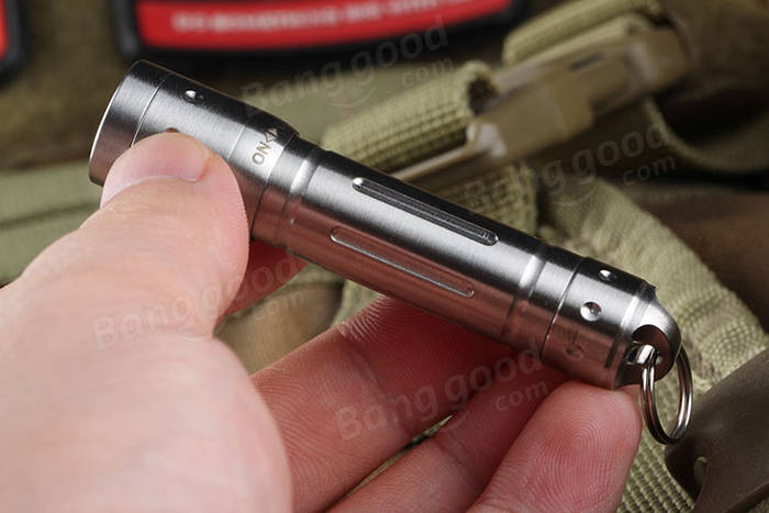 Convoy Tiny XP-E2 Stainless Steel EDC LED Flashlight AAA