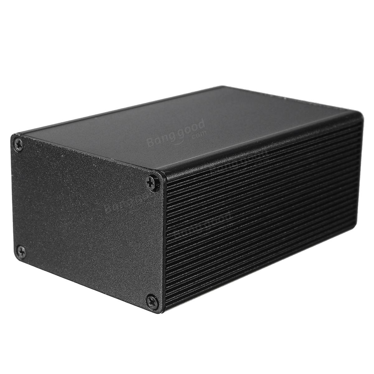 100*66*43mm Black Aluminum Box Instrument Enclosure Case Electronic DIY Project