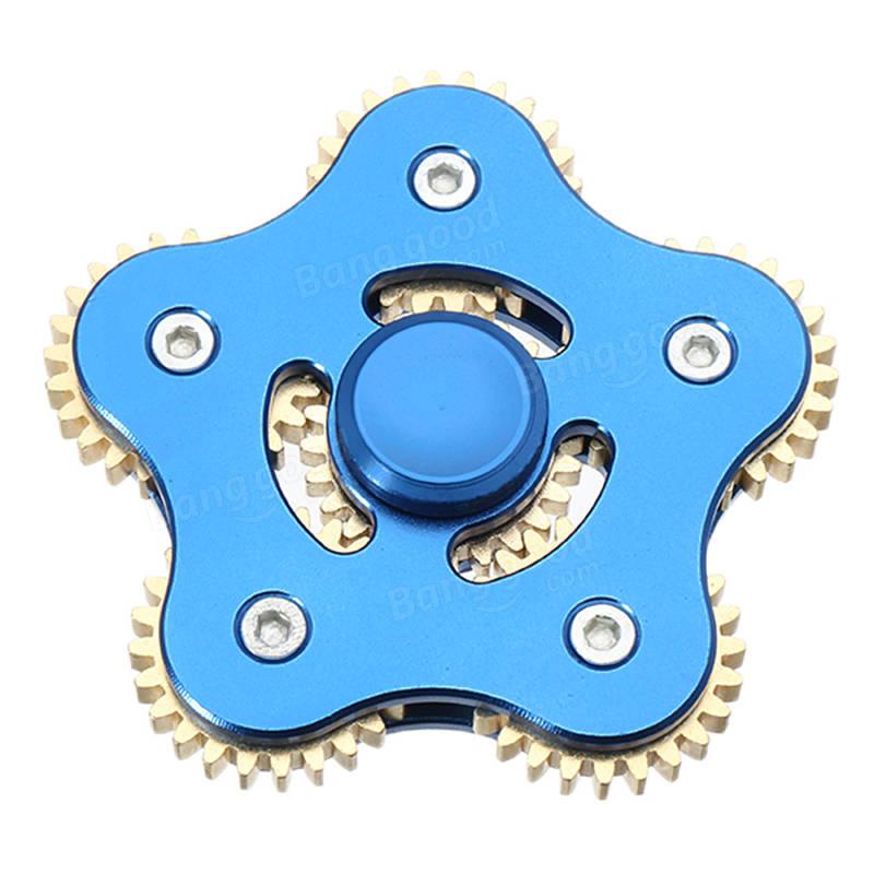 ECUBEE EDC 6 Gear Fid Spinner Blue Hand Spinner Gad Aluminum