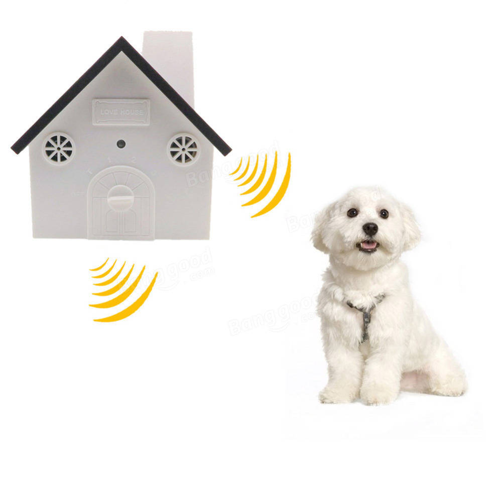 Outdoor Ultrasonic Dog Bark Control Anti Barking Device Sonic Bark Deterrents with Hanging Hole