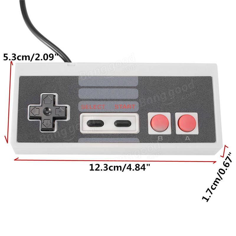 Mini Classic Controller For Nintendo NES Controller With 1.8M Cable