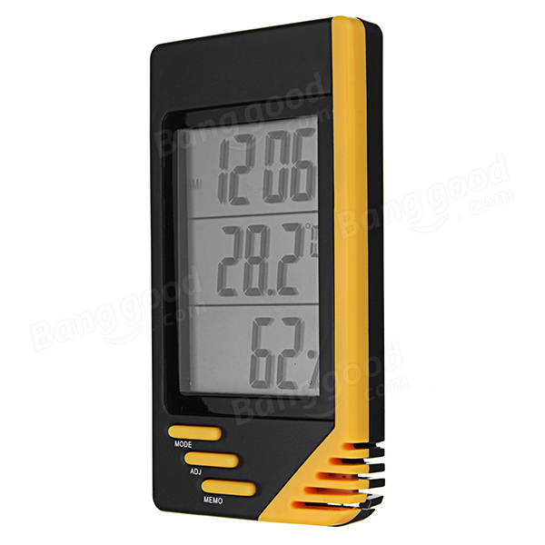 Digital LCD Indoor Thermometer Hygrometer Temperature Humidity Monitor