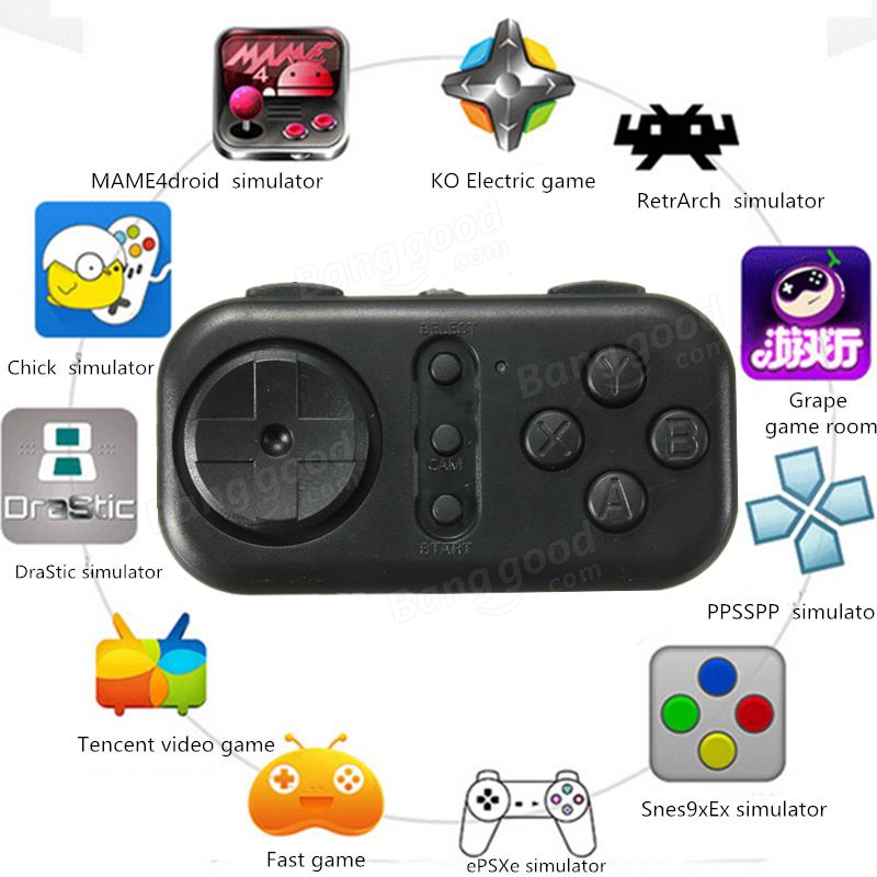 Bluetooth Wireless Gamepad Selfie Remote Control Game Console For Android IOS