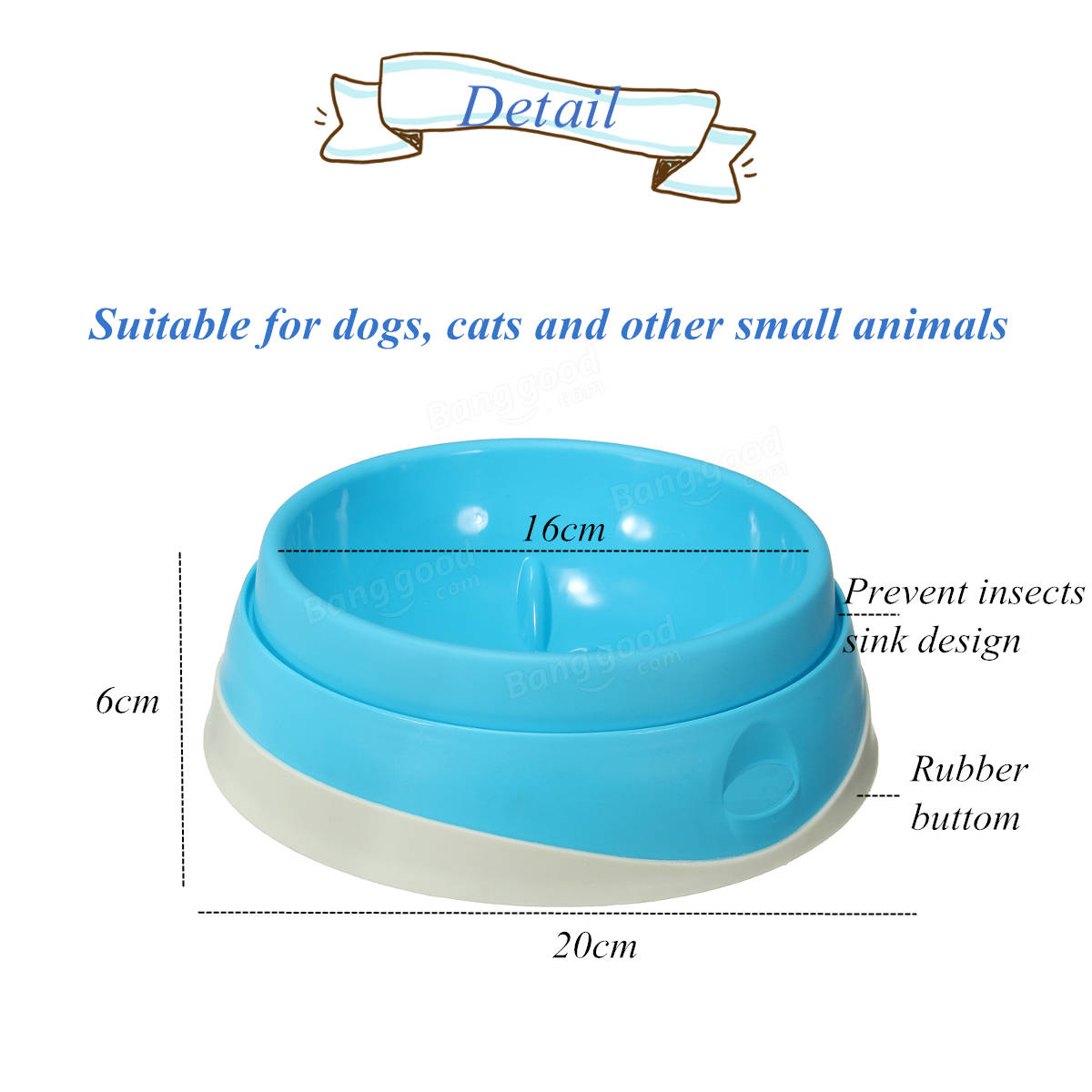 Pet Dog Feeding Supplies Cat Dog Interactive Maze Slow Food Bowl Plastic Bowl