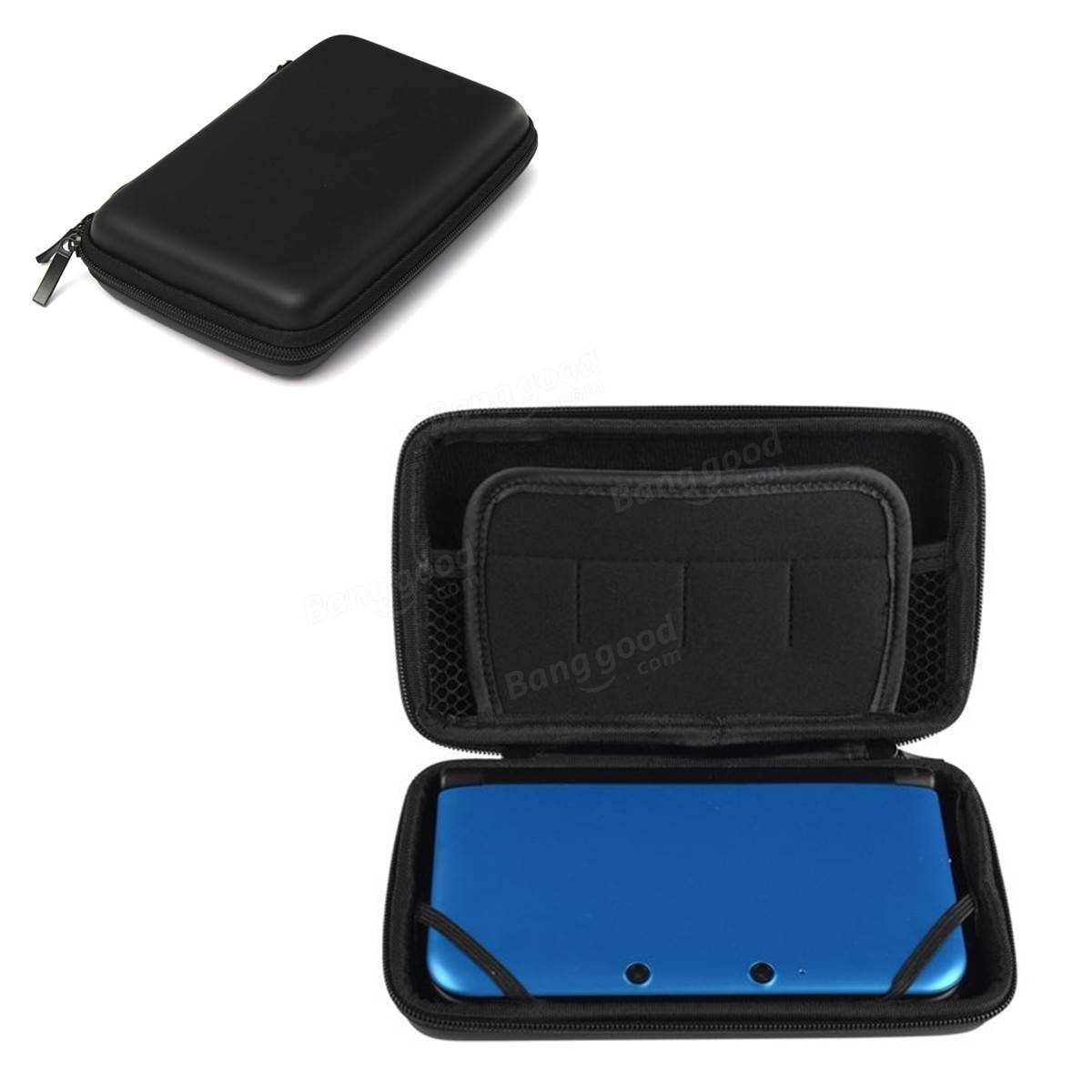 EVA Hard Case Cover Bag Carry Pouch Sleeve Protector For Nintendo 3DS XL Black