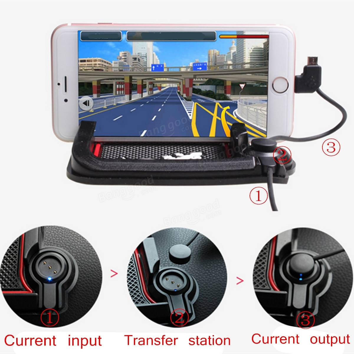 Universal Car Magnetic Charging Holder Dashboard Phone