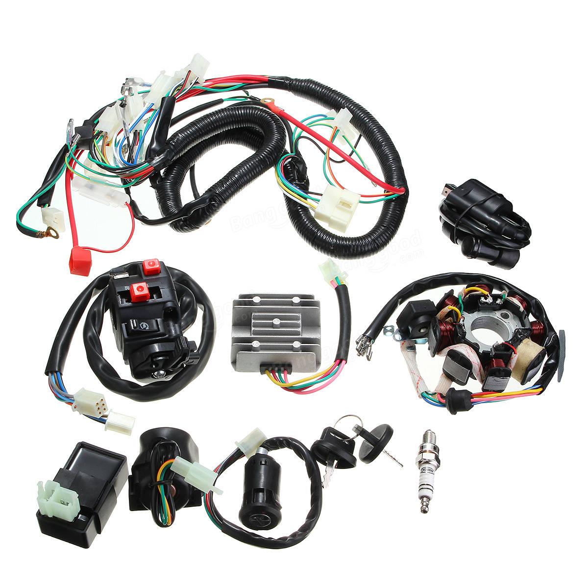 Schema Elettrico Quad : 125cc 150cc 200cc 250cc quad kit elettrico di cablaggio per