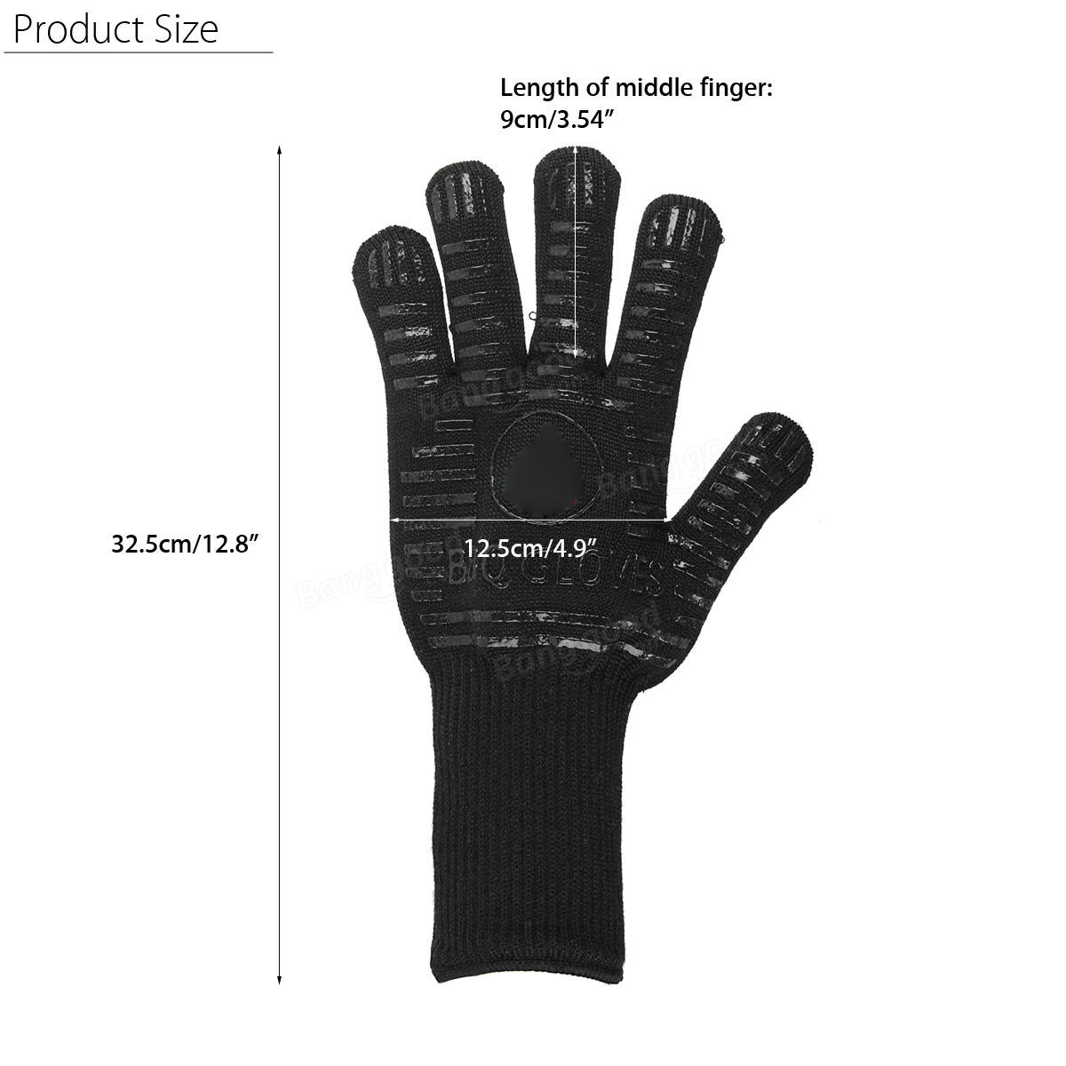 Lengthen Insulate Anti-skid Glove Heat Resistance Gloves For BBQ Oven Grill Cook Bake