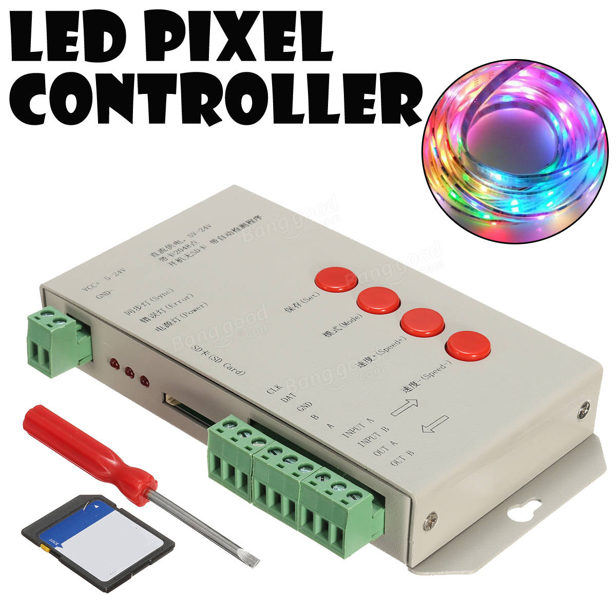 Controller Banda Led Digitala T S Penru Banda Led Magic Led Dream Led Ic Si Ws X likewise Pixel Led Controller T S   Duino Lk X in addition Hot Selling Max Pixels Programmable Sd Card Led Controller T S furthermore Hqdefault also Wholesale T S Led Controller Edit Software. on t 1000s sd card led pixel controller
