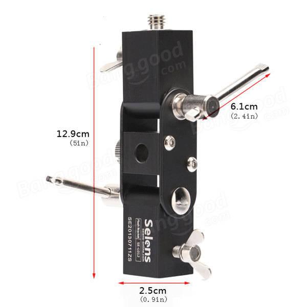 Selens SE-L012 Flash Hot Shoe Adapter Speedlite Umbrella Holder Light Stand Screw Mount L Bracket