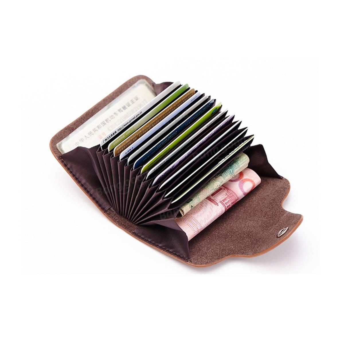 PU Leather RFID Blocking Wallet Pocket Purse Holder Credit Card Cash Case