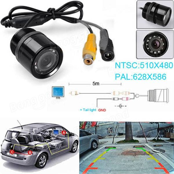 Hd 9 led visi n nocturna cmos opini n posterior del coche for Water salida trasera