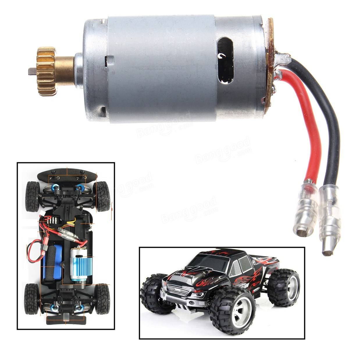 1 18 high speed rc car motor part for wltoys a949 a959 for High speed motors inc