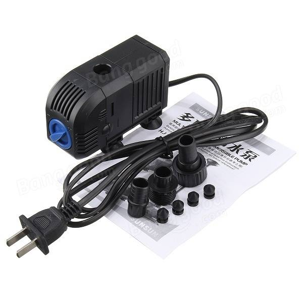 Submersible Pump Fountain Quiet Water Pump for Aquarium Fish Tank Hydroponics Pools