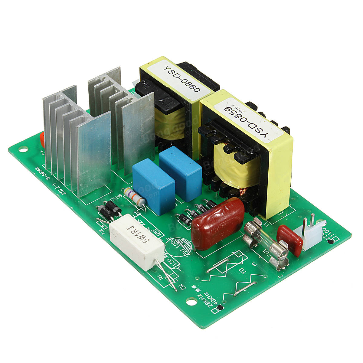 Ac 100w 40khz Ultrasonic Cleaning Power Driver Board With 50w 40k Transmitter Circuit Transducer 220v
