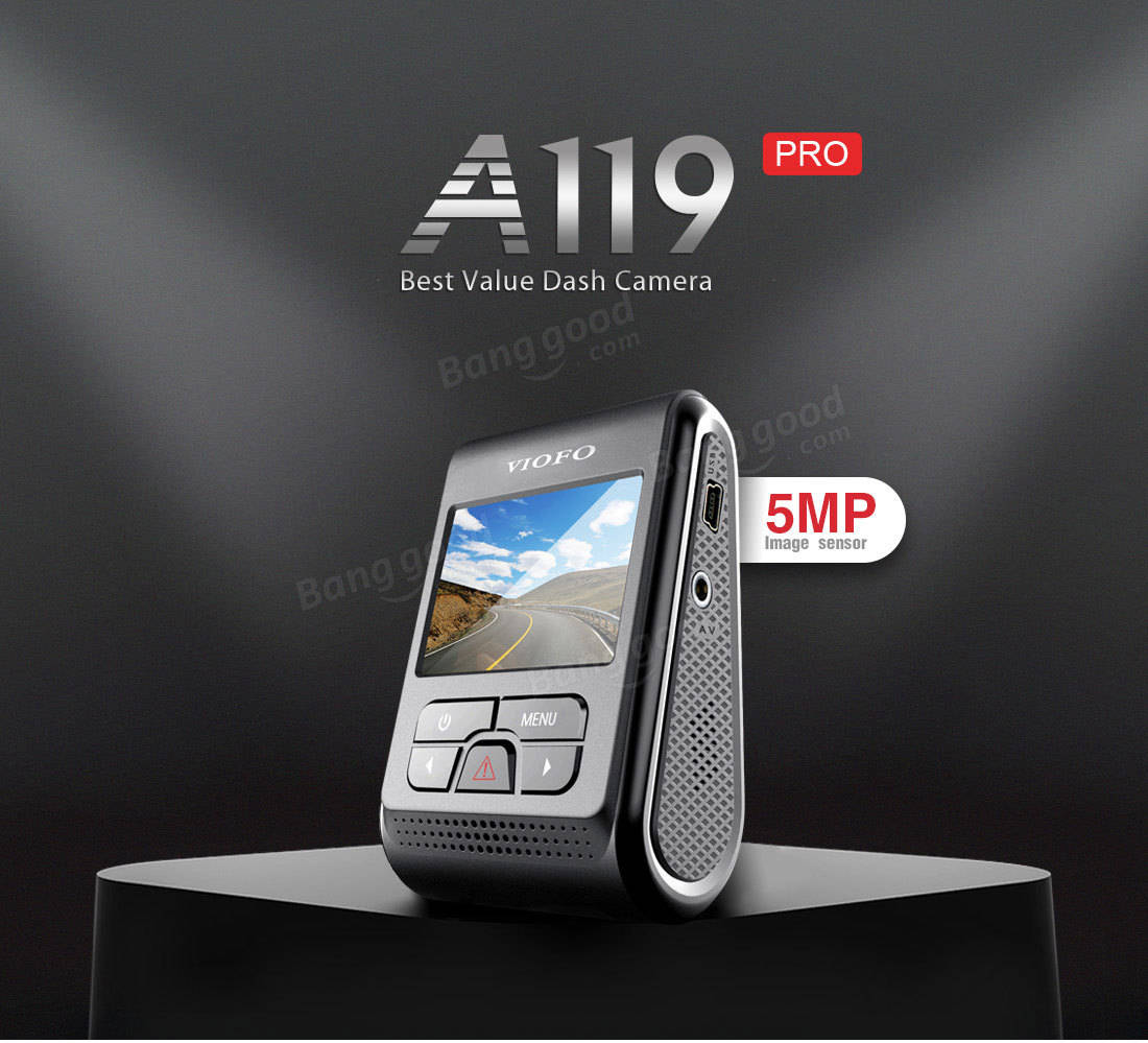 VIOFO A119 PRO Version 1440P 30fps 7G Lens And F1.8 Aperture Car DVR With GPS
