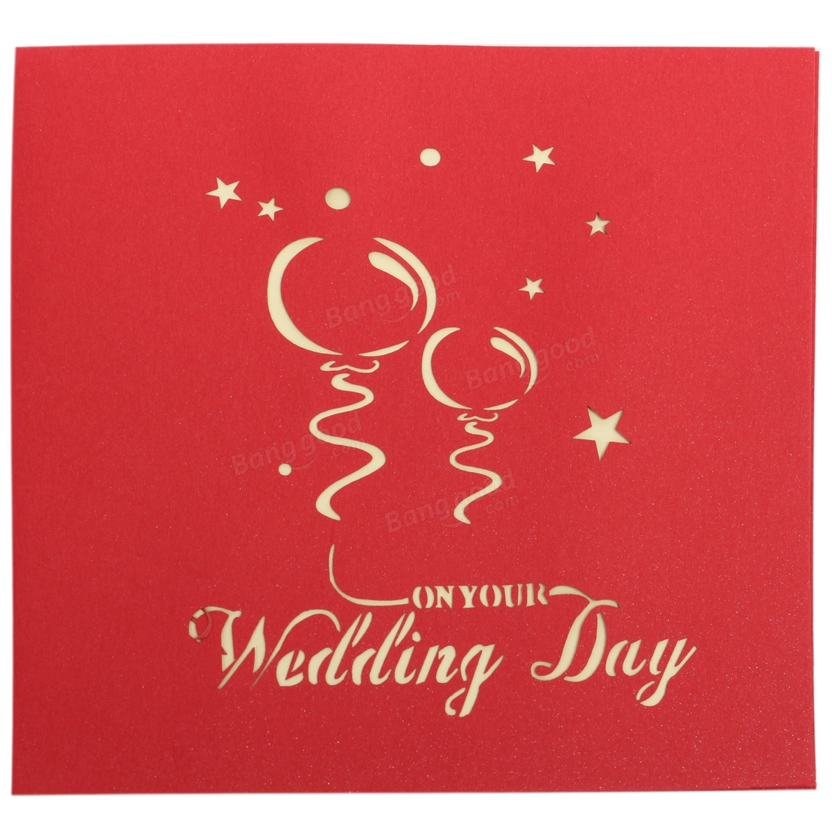 Handmade 3D Pop Up Wedding Day Greeting Card Invitation Card at ...