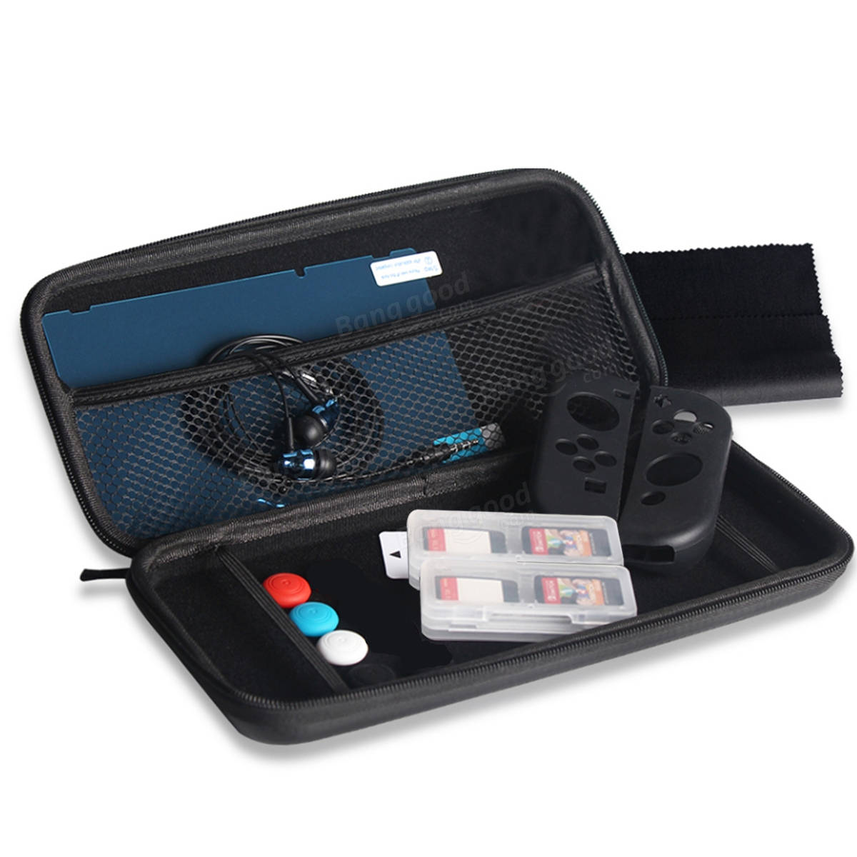OIVO 13 in 1 Accessories Set With Carrying Case For Nintendo Switch Console Joy-Con