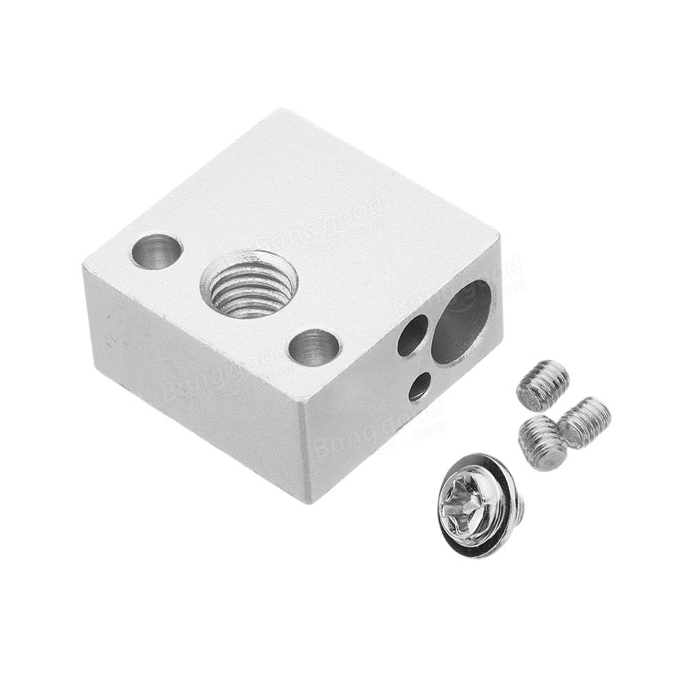 Upgrade Aluminium 20x20x10mm Heating Block For CR-10 3D Printer Extruder