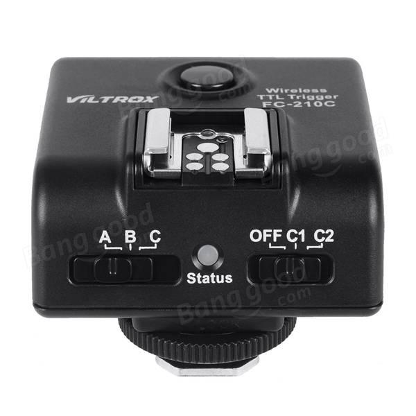 Viltrox FC210C Wireless E-TTL Flash Trigger Transceiver for Canon 5D Mark II 7D 60D 5D EOS Camera