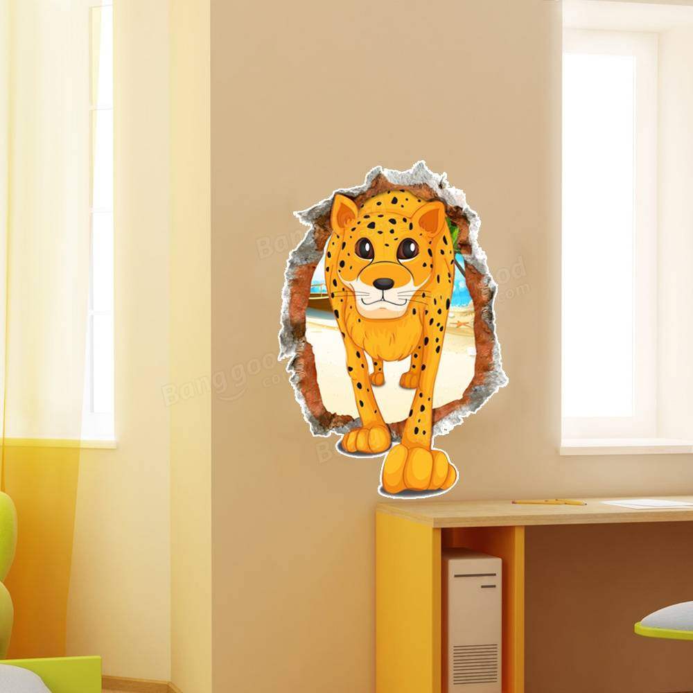 Contemporary Leopard Wall Art Decal Home Decor Adornment - All About ...
