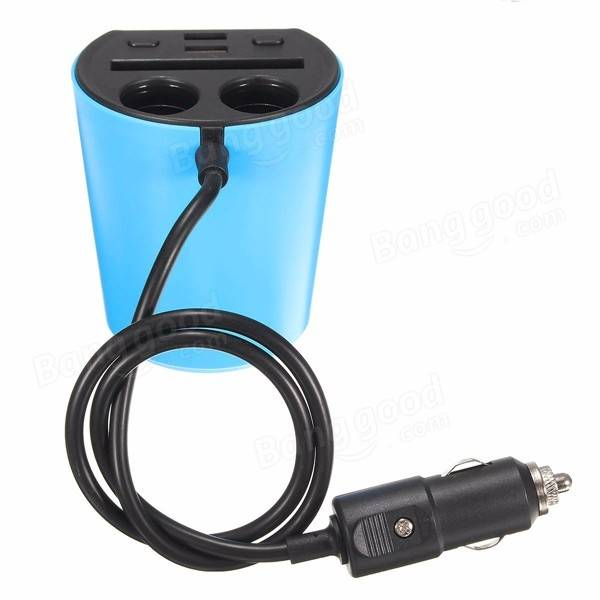 3 in 1 Dual USB Charger Adapter 2 Way Cigarette Lighter Socket Car ...