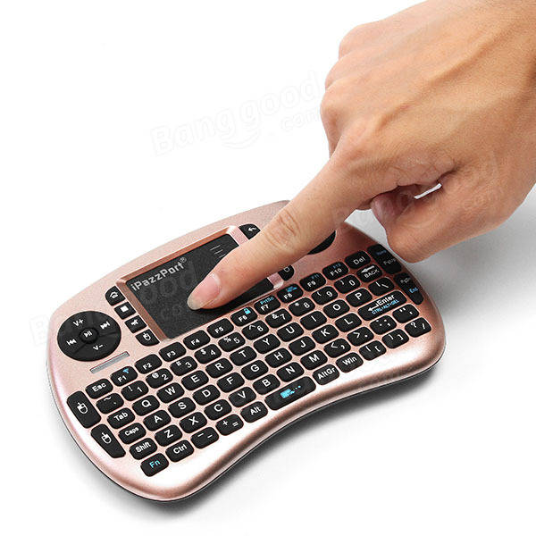 Ipazzport KP-810-21SD 2.4G Wireless Rechargeable Mini Keyboard Touchpad Air Mouse