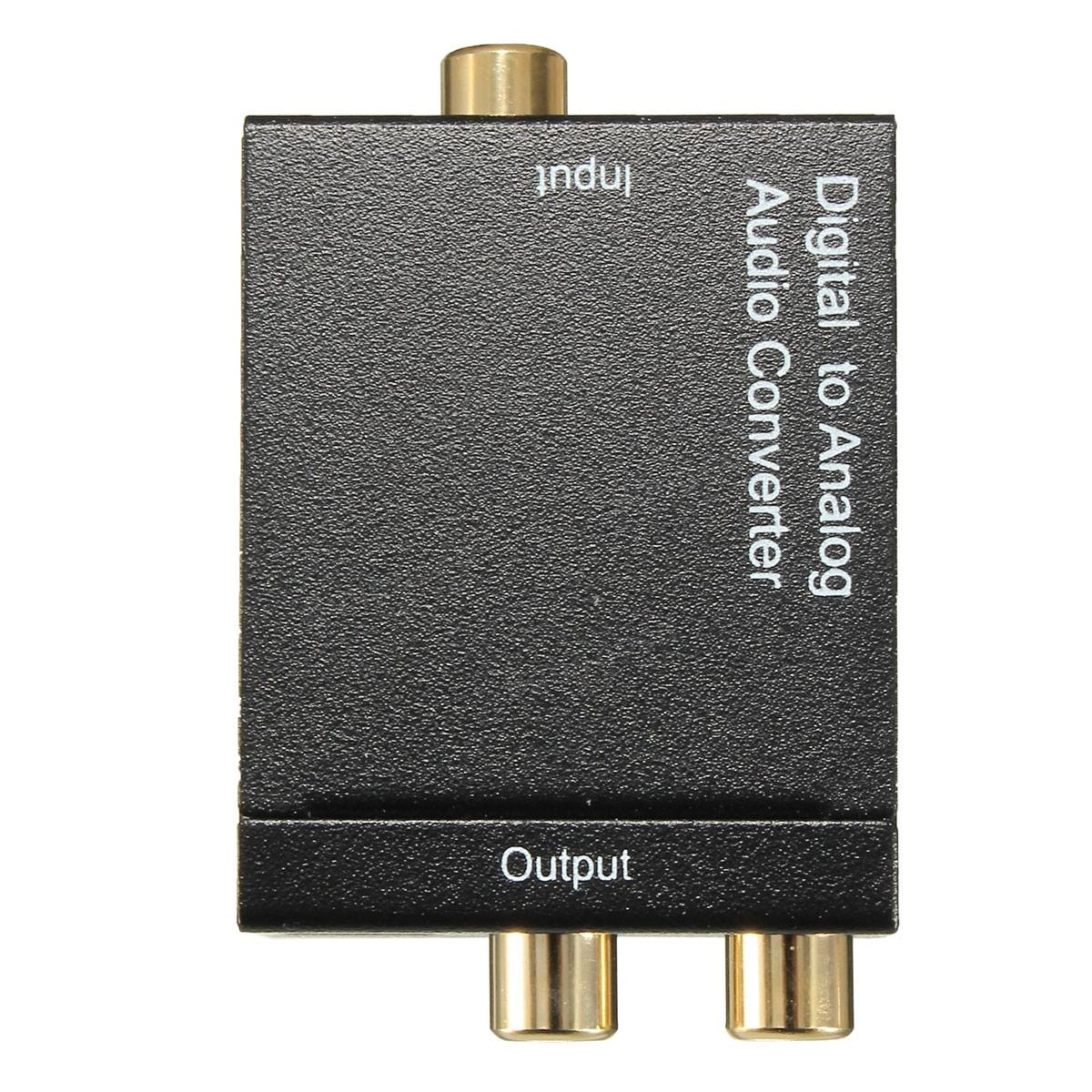 how to connect analog to digital audio converter adapter