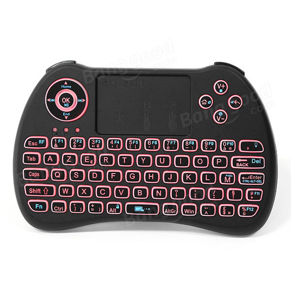 iPazzPort KP-810-21Q 2.4G Wireless French Three Color Backlit Mini Keyboatd Touchpad Air Mouse