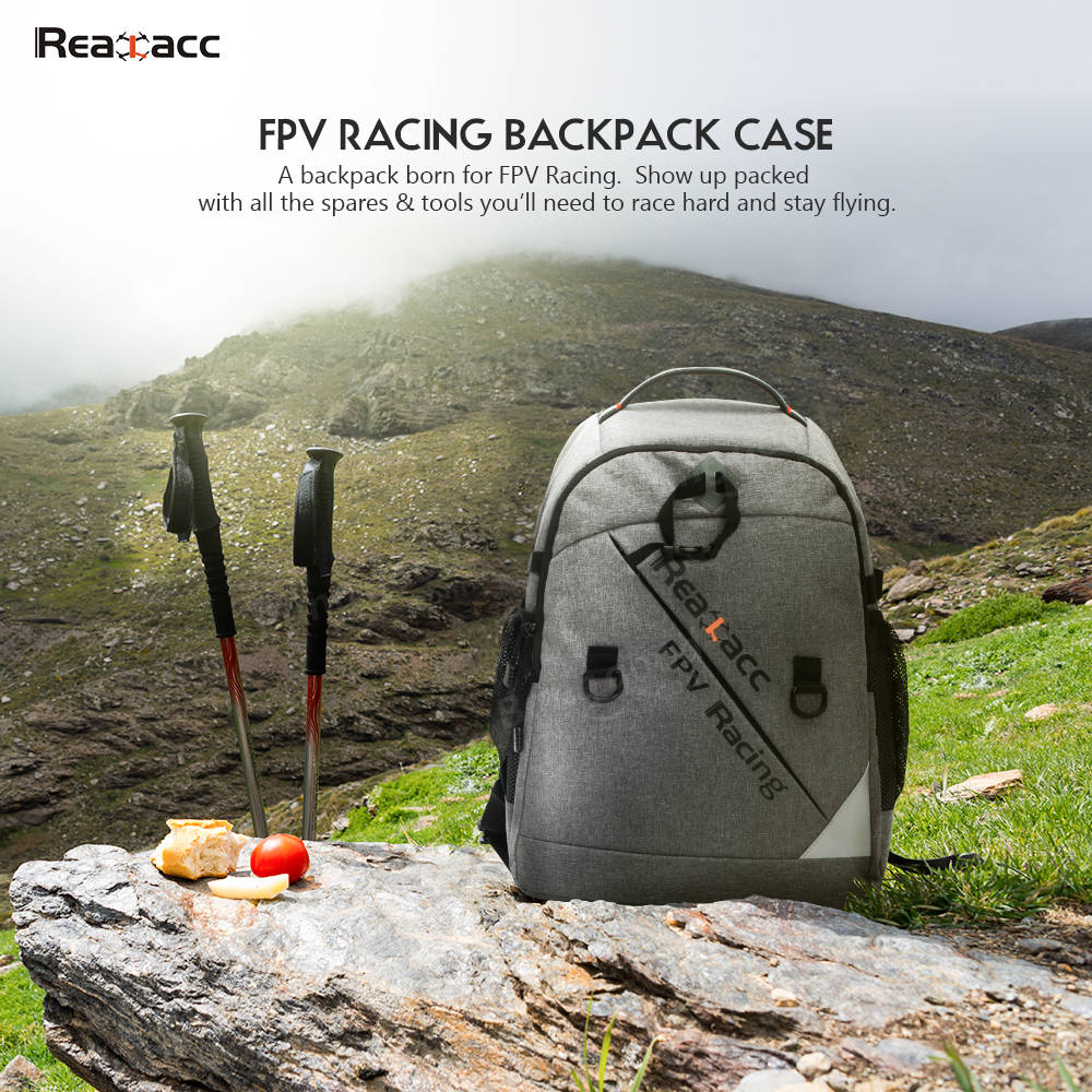Realacc Backpack Case with Waterproof Transmitter Beam port Bag for RC Drone FPV Racing