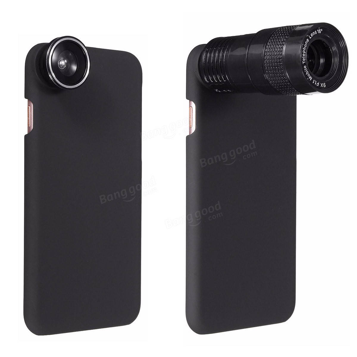 5-In-1 9X Telephoto 0.63X Wide Angle Macro Fisheye Lens + Case For ...