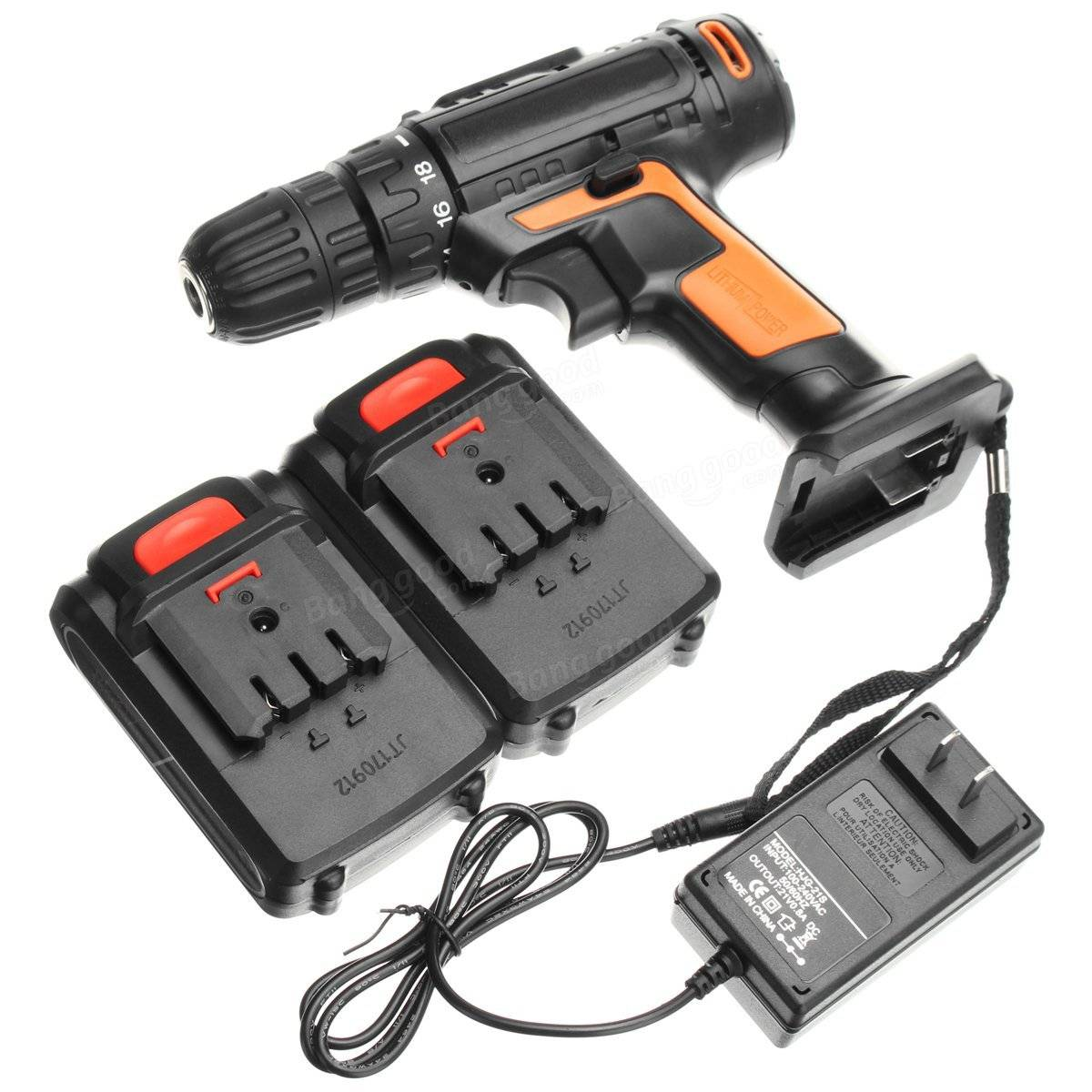 21V Cordless Lithium Electric Screwdriver Power Driver Drill Multipurposed Drilling Machine