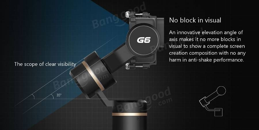 Feiyu Tech G6 360 Degree 3 Axis Camera Gimbal With WiFi Blue Tooth Remote Control For GoPro 6/5 RXO