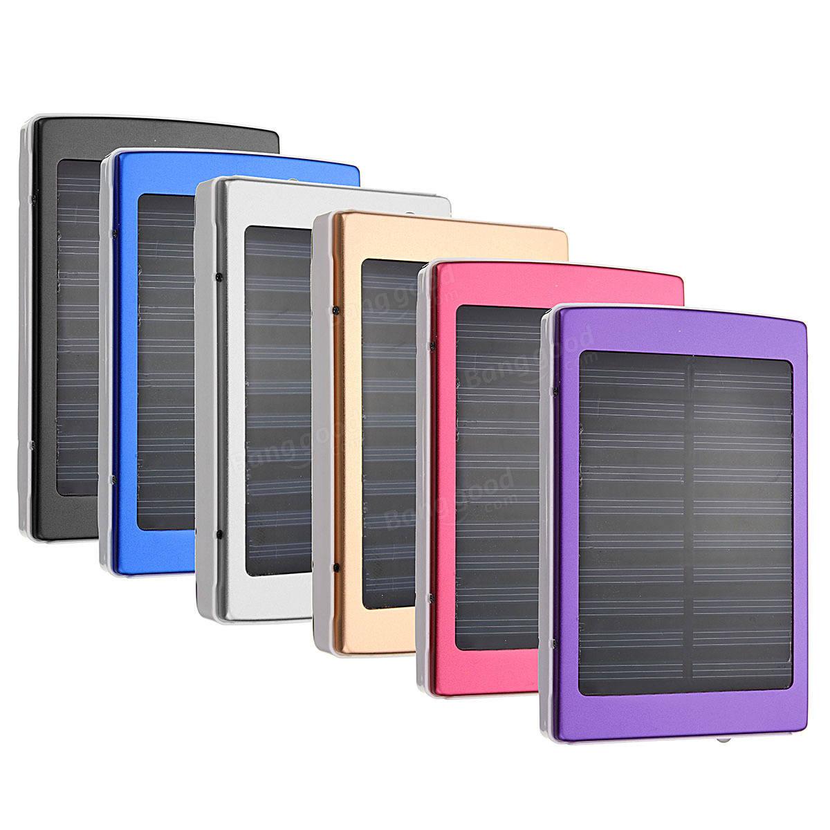 8000mah Dual Usb Solaire Externe Alimentation Bank Pack Batterie Pour Iphone T 233 L 233 Phone