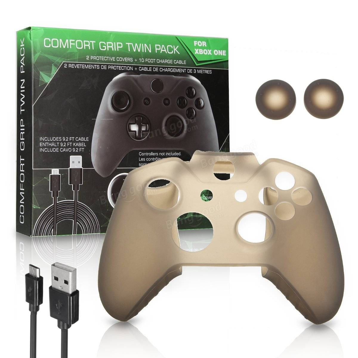 Silicone Skin Cover Protective Joystick Caps Cable For Xbox One Controller