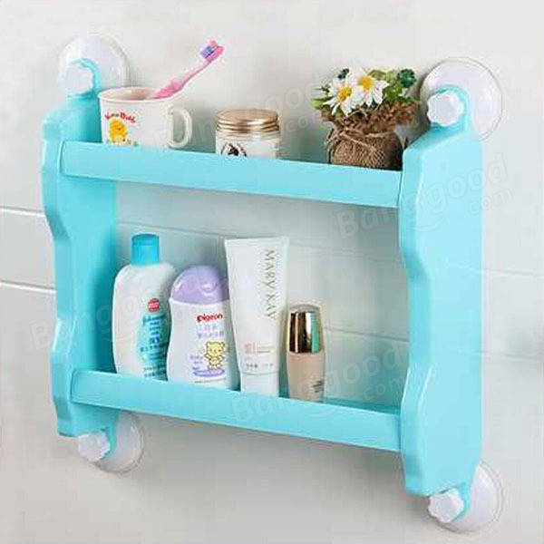 Plastic Wall Mounted Suction Cup Storage Rack Traceless Vacuum ...